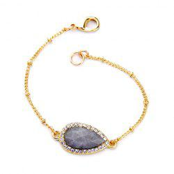 Stone Decorated Rhinestoned Water Drop Bracelet -
