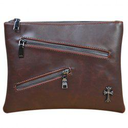 Retro Zips and Cross Design Clutch Bag For Men