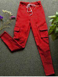 Drawstring Waist Big and Tall Cargo Pants