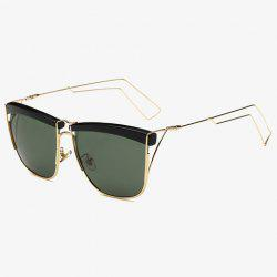 Stylish Black Brow and Hollow Out Leg Embellished Sunglasses For Men