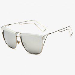 Stylish White Brow and Hollow Out Leg Embellished Sunglasses For Men