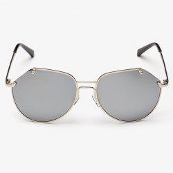 Stylish Irregular Lenses Silver Metal Sunglasses For Men
