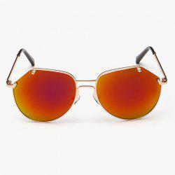 Stylish Irregular Lenses Golden Metal Sunglasses For Men -