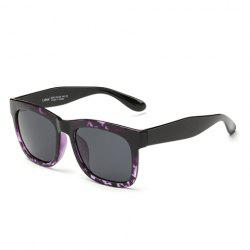 Stylish Purple Flecky Frame Outdoor Lightweight Sunglasses For Men -
