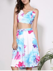 Floral Bandeau Top Two Piece Club Dress -