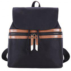 Simple Color Block and Cover Design Satchel For Women - DEEP BROWN