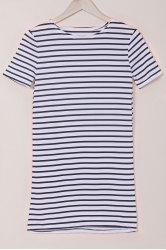 Striped Mini T-Shirt Dress