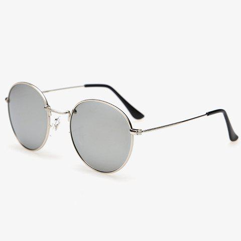 Unique Stylish Full Frame Outdoor Silver Sunglasses For Men