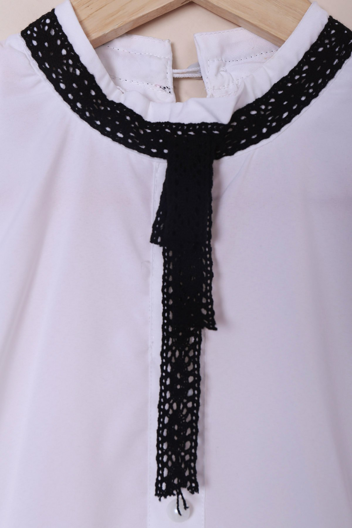 Stand Collar Dress Designs : White s vintage stand collar lace up ruched button design