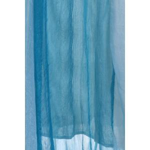 Color Block Flowy Long Skirt - NAVY BLUE ONE SIZE
