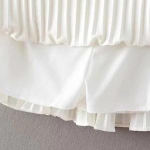 Brief Pleated Solid Color Mini Skirt For Women -