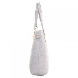 Trendy Metallic and Embossing Design Shoulder Bag For Women -