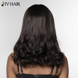 Siv Hair Long Curly Human Hair Women's Wig -