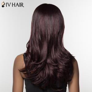 Trendy Siv Hair Long Curly Human Hair Women's Wig -