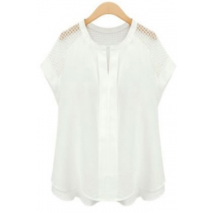 Casual V-Neck Cap Sleeves Solid Color Shirt For Women