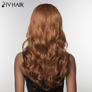 Trendy Siv Hair Inclined Bang Long Curly Human Hair Women's Wig -