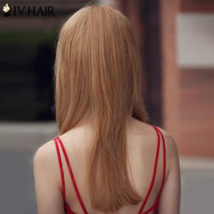 Trendy Human Hair Siv Hair Long Women's Wig -
