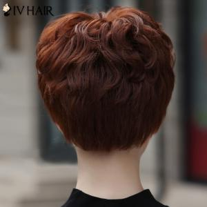 Women's Stylish Human Hair Siv Hair Short Curly Wig -
