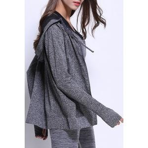 Sporty Long Sleeve Hooded Jacket For Women -