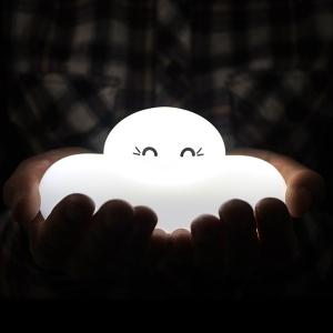 Fashion Bedside Lamp Cartoon Cloud Shape Touch Sensing LED Night Light -