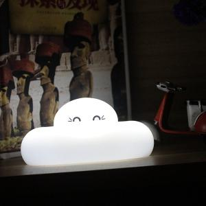 Fashion Bedside Lamp Cartoon Cloud Shape Touch Sensing LED Night Light - WHITE