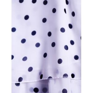 Trendy Round Collar Polka Dot Chiffon Women's Tank Top -