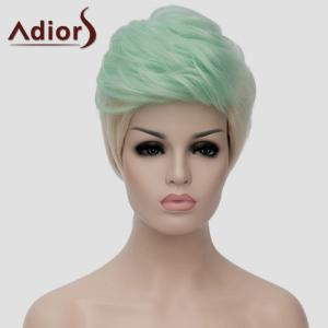 Adiors Fluffy Heat Resistant Synthetic Highlight Short Wig For Women - OMBRE 1211#