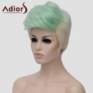 Adiors Fluffy Heat Resistant Synthetic Highlight Short Wig For Women - OMBRE