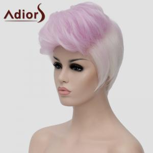 Adiors Fluffy Highlight Heat Resistant Synthetic Short Wig For Women - COLORMIX