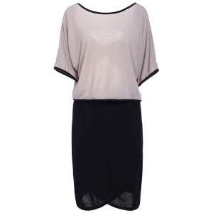 Sweet 3/4 Sleeve Backless Bowknot T-Shirt+Plus Size Skirt Twinset For Women