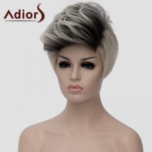 Fluffy Adiors Highlight Heat Resistant Synthetic Short Wig For Women -