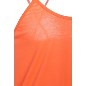 Stylish Spaghetti Strap Solid Color Backless High Low Tank Top For Women - JACINTH L