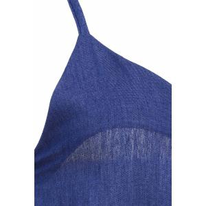 Brief Spaghetti Strap Purplish Blue Sleeveless Jumpsuit For Women - PURPLISH BLUE M