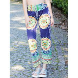 Stylish Mid-Waisted Printed Loose-Fitting Women's Exumas Pants - S