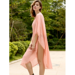 Women's Stylish Loose Candy Color Furcal Beach Cover-UP -