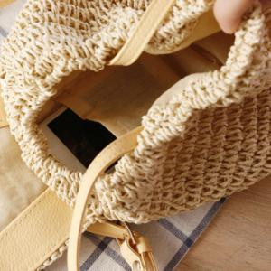 Casual Bow and Straw Design Crossbody Bag For Women -