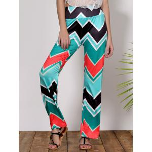 Stylish Mid-Waisted Wave Print Loose-Fitting Women's Exumas Pants -