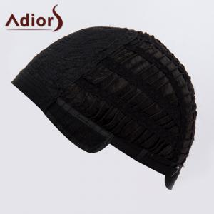 Fashion Blonde Mixed Black Short Capless Fluffy Wave Synthetic Adiors Bump Wig For Women -