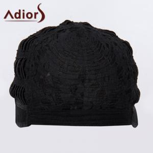 Trendy court Shaggy Vague synthétique noir d'or Side mixte Bang Adiors perruque pour les femmes -