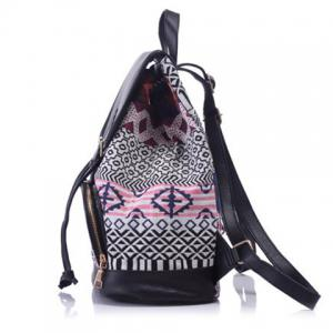Casual Jacquard and Buckle Design Satchel For Women -