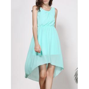 Sleeveless High-Low A Line Chiffon Dress