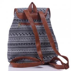 Casual Tribal Print and Buckle Design Satchel For Women -