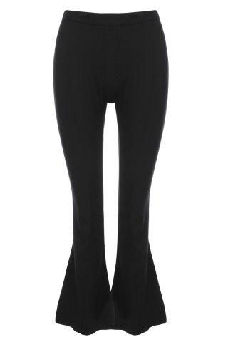 Cheap OL Style Solid Color Loose Wide Leg Pants For Women BLACK XS