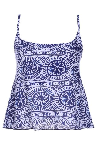 Unique Stylish Spaghetti Strap Tribal Print Women's Tank Top COLORMIX M