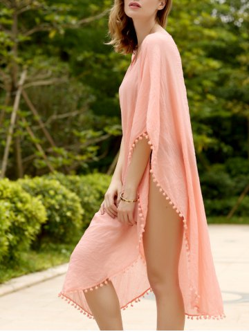 Chic Women's Stylish Loose Candy Color Furcal Beach Cover-UP