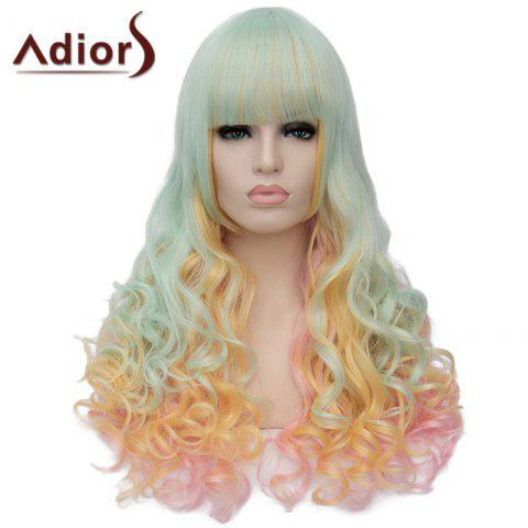 Affordable Fluffy Adiors Full Bang Heat Resistant Synthetic Long Wig For Women