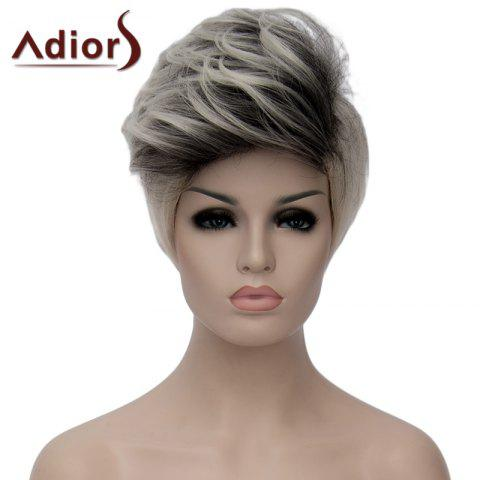 New Fluffy Adiors Highlight Heat Resistant Synthetic Short Wig For Women