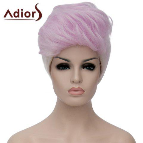 Trendy Adiors Fluffy Highlight Heat Resistant Synthetic Short Wig For Women