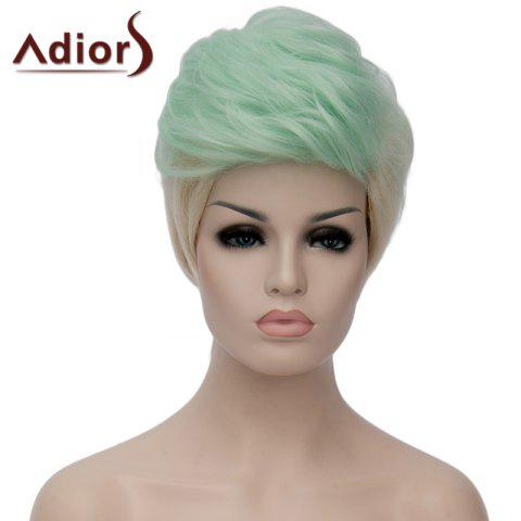 Buy Adiors Fluffy Heat Resistant Synthetic Highlight Short Wig For Women OMBRE