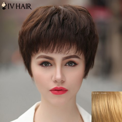 Outfit Women's Skilful Siv Hair Human Hair Full Bang Short Wig